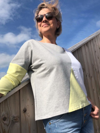 PIECES-Pulli mit 3/4 Arm