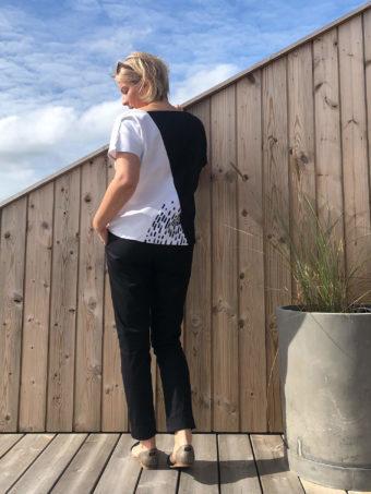 PIECES-Pulli ohne Arm Rückansicht